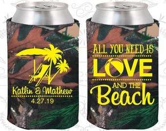 Camouflage Wedding, Camouflage Can Coolers, Camouflage Wedding Favors, Camouflage Wedding Gift, Camouflage Wedding Decor (417)