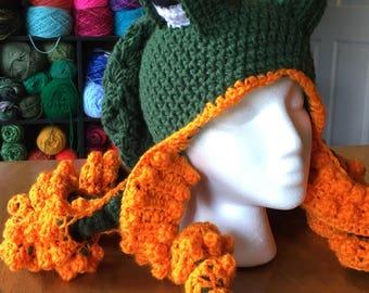 Twisted Kraken Crochet Hat