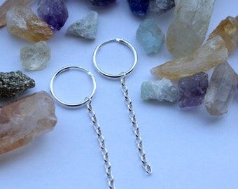 PAIR - Chain hoop Earrings