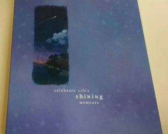 "On Sale NEW  Hallmark ""Starry Sky""  Photo Album or Memory Book, Post Scrapbook Album, 12.5"" x 11, w/Scrapbook Pages, Original Box"