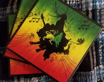 Reggae coasters set of three