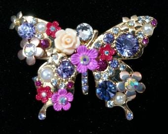 Flower Garden Butterfly Hair Jewelry