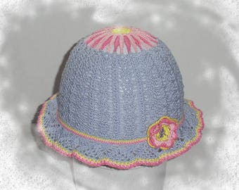 "Hat, summer hat ""Daisy"", 2-6 years old girl"