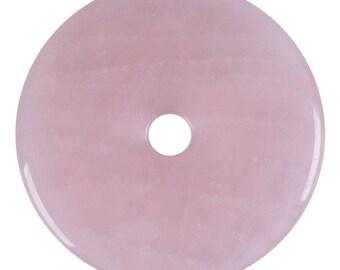 30mm g0126.1 Rose quartz donut gemstone pendant focal bead