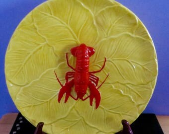 Vintage 1940's Maruhon Ware Crawdad Hors d'oeuvre Serving Tray - Lobster