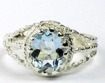 On Sale, 30% Off, Aquamarine, 925 Sterling Silver Ring, SR070