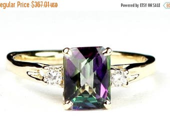 On Sale, 30% Off, Mystic Fire Topaz, 14KY Gold Ring, R171