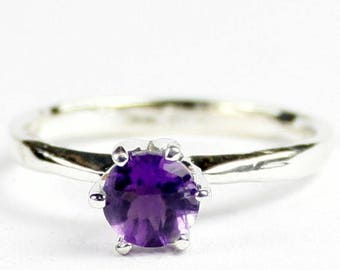 On Sale, 30% Off, Amethyst, 925 Sterling Silver Ladies Ring, SR311