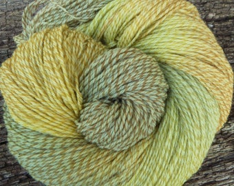PURE MERINO TWEED wool Mollycoddle Yarns, Indie Dyer, Hand dyed wool, 100gms 4 ply, fingering, 400 mts, 'Lichen'