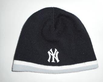 Vintage Nike New York Yankees Beanie Knit Cap Hat