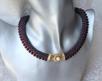 """ALEX"" chain crochet with beads"