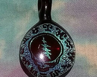 Dichroic Grateful Dead Astrology Pendant