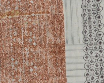 Ori Some in Rust (Double Gauze Fabric) by Nani Iro from the 2017 collection for Kokka #KOKJG103300OO1E by 1/2 yard