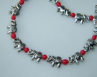 Silver Plated Anklet, Elephant Anklet, One Pair Beautiful Anklets, Beads Anklet, Boho Anklet, Women Foot Jewelry SH-8270