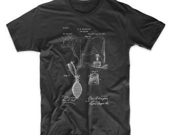 Cow Milker 1887 Patent T Shirt, Barn Shirt, Farmhouse Shirt, Kitchen T Shirt, Cow Shirt, PP0639