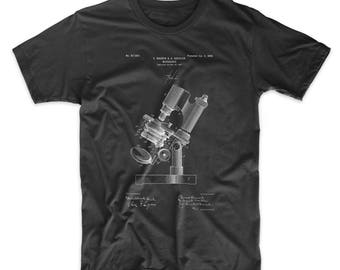 Microscope Patent T Shirt, Biology Teacher Gift, Pharmacy Student, Science Shirt, Chemistry Art, Tech Shirt, PP0721