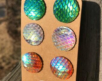 Mermaid earrings mermaid jewelry mermaid charms fish charms stud earrings-mermaids nickel free jewelry colorful earrings