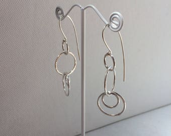 Miranda Earrings - Loopy Earrings - Sterling Silver - Handmade