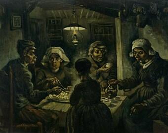 The Potato Eaters (Artist: Vincent van Gogh) c. 1885 - Masterpiece Classic (Art Print - Multiple Sizes Available)