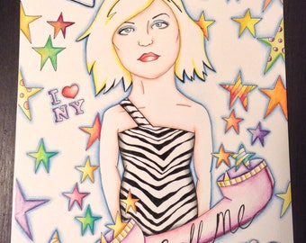 Debbie Harry original drawing