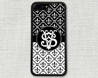 Fleur De Lis iPhone 8 Case, Fleur De Lys iPhone 8 Plus Case, Gift for Her, Girlfriend Gift, iPhone 7, 7 Plus, 6/6S, 6/6S Plus, 5/SE 1319