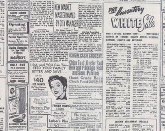 Modern BG Paper - Newsprint Grey by Zen Chic for Moda, 1/2 yard, 1582 17