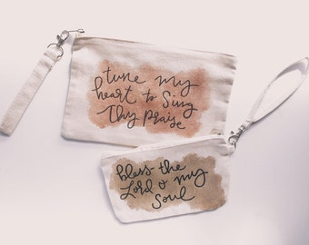 Water Color Wristlet - Canvas Pouch Song Lyrics