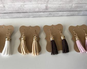 Suede tassel earrings | dangle tassel earrings | gifts for her