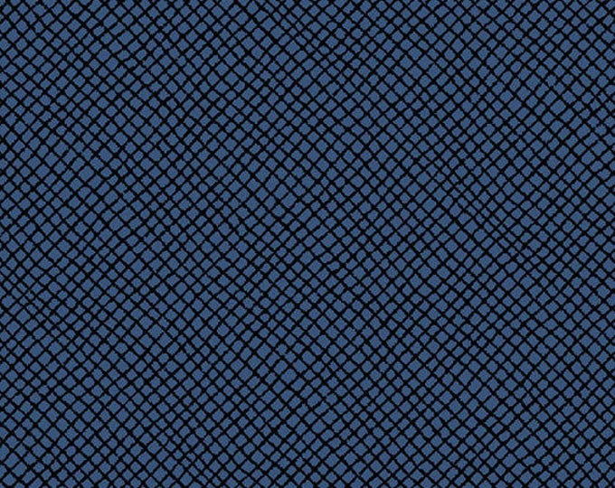 """11"""" REMNANT Peanuts - Hugs for Heroes - Netting Blender in Navy Blue - Snoopy Cotton Quilt Fabric - Quilting Treasures - 22775-N (W3113)"""