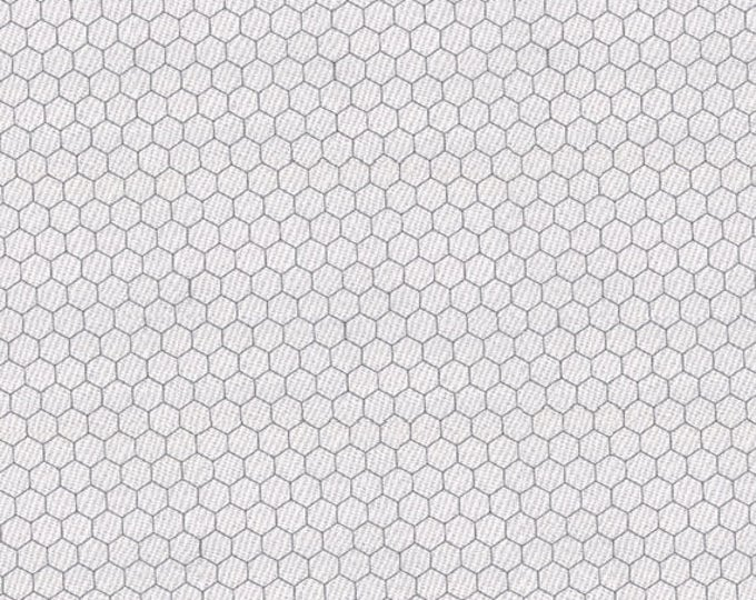 CHICKEN WIRE - Blender in White - Farmhouse Cotton Quilt Fabric - Moda Classics from Moda Fabrics - 8255-1 (W4415)