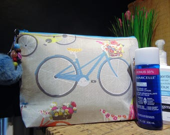 Large cosmetic bag, travel, knitting or other