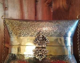 Gold pillow brass bag