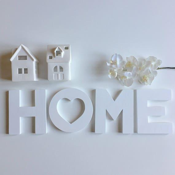 Scritta home in legno dipinta a mano for Scritta home in legno