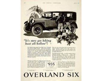 Vintage poster advertisement  for a 1926 Overland Six -6