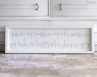 FLASH SALE! | You Are My Sunshine | Free Shipping | Farmhouse Wood Sign | 35x11 | READY to Ship!