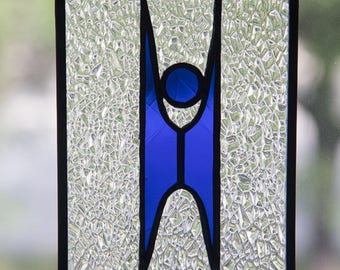 Happy Human Stained Glass Suncatcher