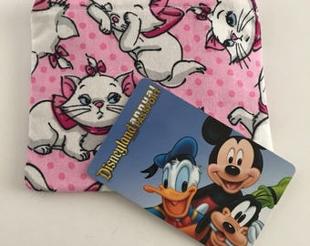 MINI Disney-Inspired Aristocats Marie Handmade Small Fabric Zipper Pouch/Coin Purse