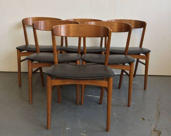 Set of 6 Vintage Danish Modern Farstrup Dining Chairs - Free NYC Delivery!