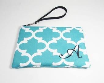 Wristlet - Monogram Makeup Bag - Bridesmaid Bags - Design Your Own Cosmetic Bag or Wallet - Medium