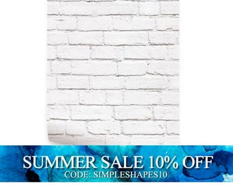 Removable Wallpaper White Brick Modern Clean Look Self Adhesive Fabric Wallpaper Repositionable