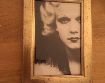 Jean Harlow black and white print in a gold frame 6x4""