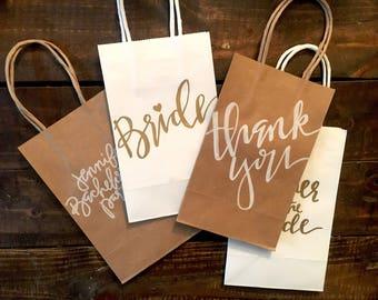 Custom Hand Lettered Gift Bags