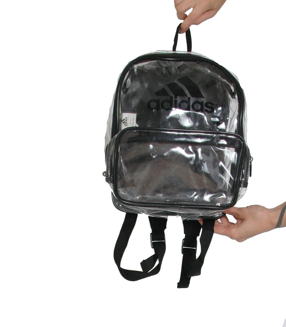 Clear Plastic ADIDAS Backpack - Sporty 90s Y2k - Plastic Mini Backpack - Adidas  bag - af1be6936c003