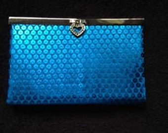 blue purse/wallet clutch