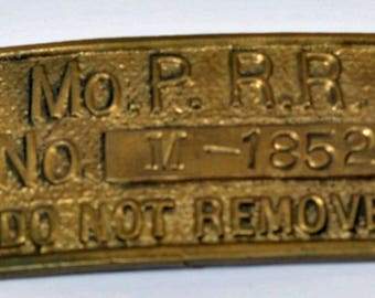 Missouri Pacific Railroad Machine Identification Plate