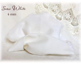 Italian VISCOSE Fabric Fur Snow White Colour 4 mm pile teddy bear making supplies plush