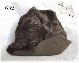 Italian VISCOSE Plush Fabric Fur Hand Dyed (682) 6 mm pile 1/8 m teddy bear making supplies