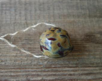 Very large ceramic bead handmade