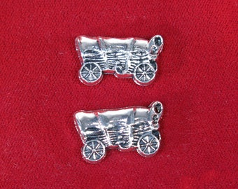 """BULK! 30pc """"chuck wagon"""" charms in antique silver style (BC1270B)"""