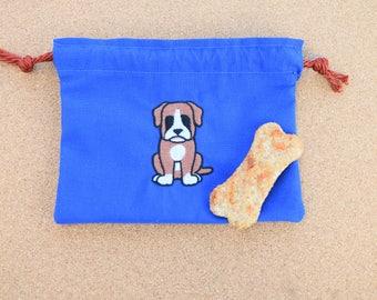 Boxer Dog Treat Bag, Boxer Treat Bag, Boxer Bag, Boxer, Dog Treat Bag, Puppy Treat Bag, Handmade Boxer Bag, Boxers Bag